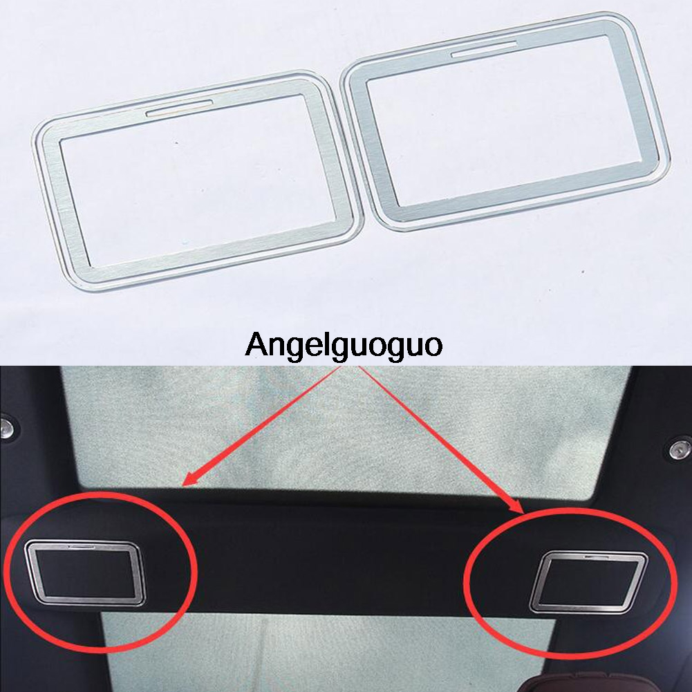 Car rear roof cosmetic mirror decoration frame cover trim for Mercedes benz e350 car cover