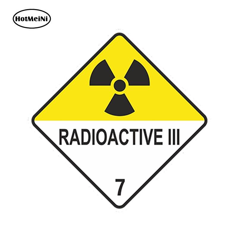 HotMeiNi 13x13cm Car Styling Radioactive Iii Warning Car Sticker Atomic Nuclear Radiation Waterproof  Doors Windows Accessories gmv2 personal dosimeter nuclear radiation detector geiger counter beta gamma x ray with alarm radioactive detector