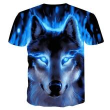 Wolf 3D Print Animal Cool Funny T-Shirt Men Short Sleeve L99