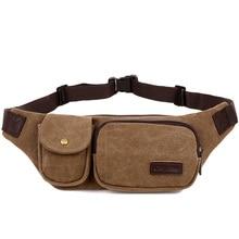 New Retro Men Waist Bag for Men Women Fanny Canvas Chest Pack Quality Money Belt travelling Phone Sling Bag 22x4x15 cm