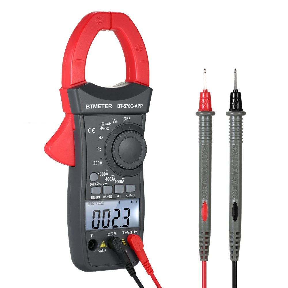 Digital Clamp Meter Multimeter Voltage Current ESR Multi Meter Frequency Duty Cycle Temperature Tester Connect With App By BTDigital Clamp Meter Multimeter Voltage Current ESR Multi Meter Frequency Duty Cycle Temperature Tester Connect With App By BT