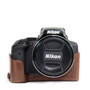 Image 2 - Etui en cuir 9 en 1 + filtre + pare soleil + stylo de nettoyage + protecteur de verre pour appareil photo numérique Nikon CoolPix P900 P900s