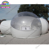 Double rooms transparent inflatable bubble tent for outdoor camping ,clear inflatable igloo tent for rental