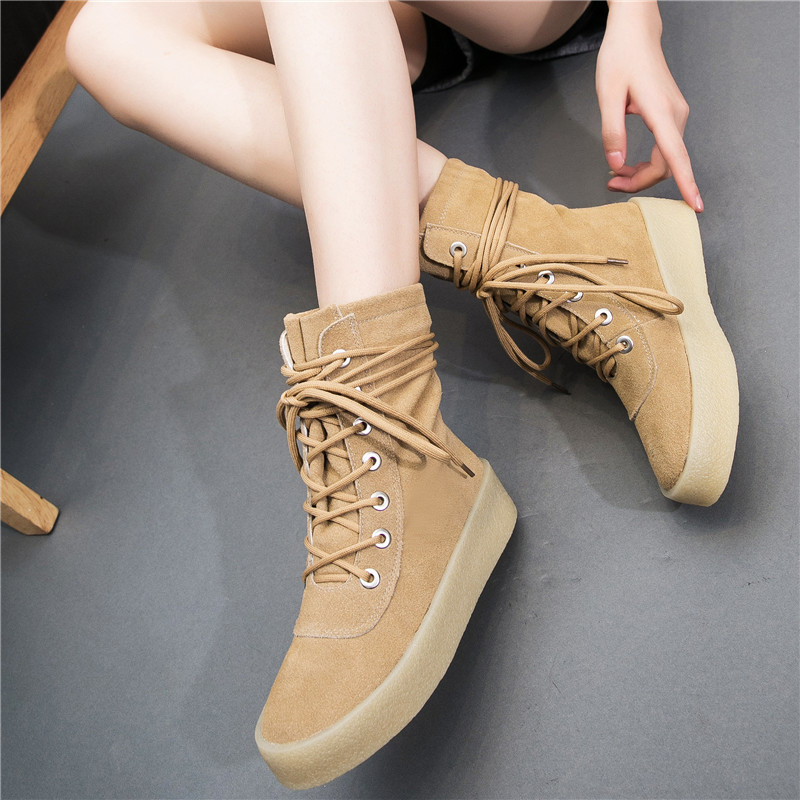 En khaki Solides Mode Printemps Véritable mollet Bottes Femelle Plat brown Qualité Mi Cuir L'automne De Boot Chaussures Haute Black Pour Femmes ngaAXpHaqx