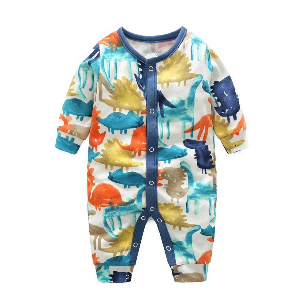 Hooyi Dino Baby Boys Rompers Babe Romper with Girls 100% Cotton Jumpsuits newborn overalls baby Clothing Soft 3 6 9 12 Month