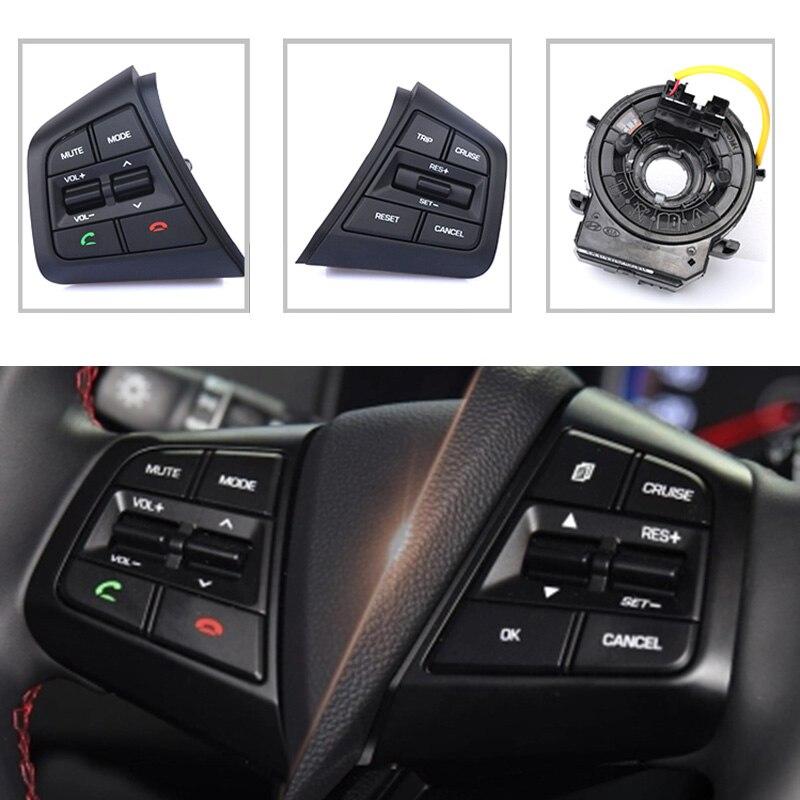 Un ensemble Pour Hyundai creta IX25 Audio Radio Contrôle Régulateur de vitesse Commutateur cache de volant Commutateur Bouton Bluetooth téléphone avec fil