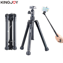 Купить с кэшбэком KINGJO Official P058 Lightweight Tripod Aluminum Mini Tripod For Camera Phone Tripod For Mobile Stand Camera Holder Selfie stick