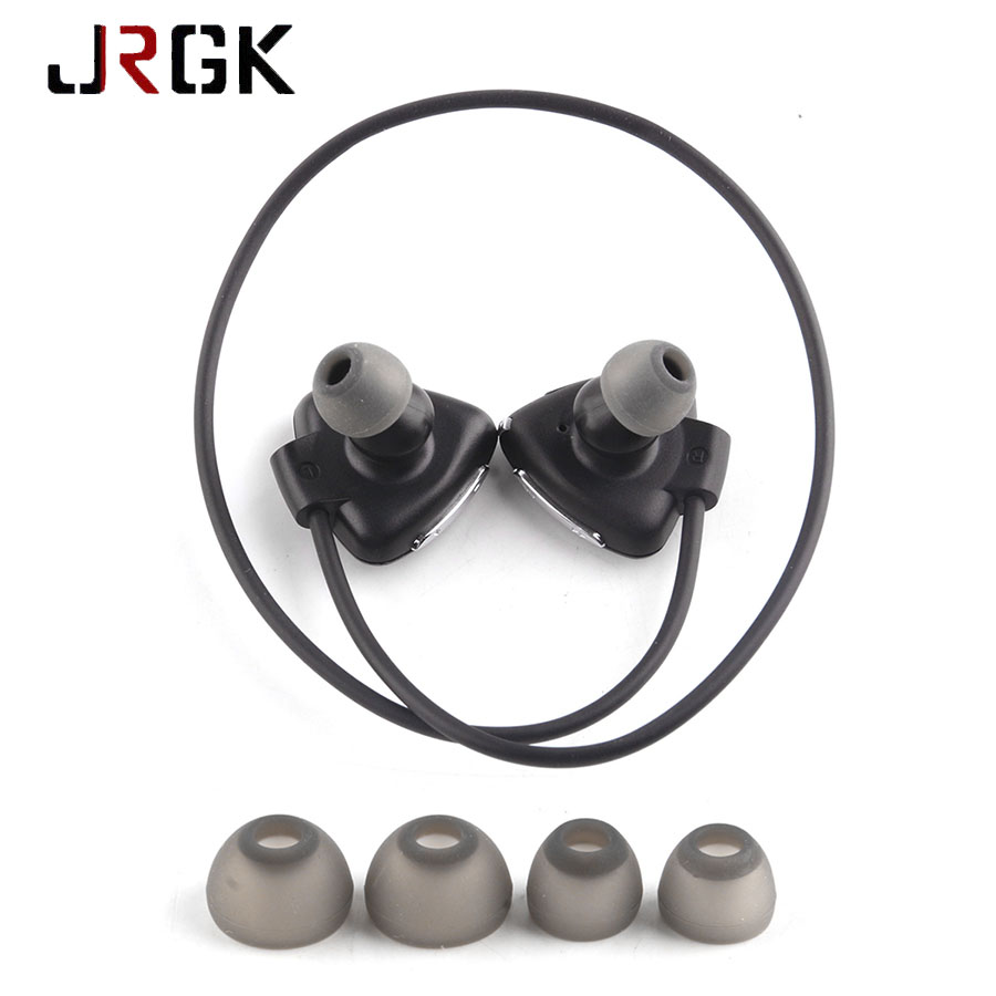 JRGK Wireless Stereo Headset Earbuds NFC Bluetooth Headphone Neckband With Mic For iphone 6 6s IP5X Waterproof Sports Earphones remax rb s7 headphone magnetic neckband bluetooth v4 1 wireless hd stereo sports earphone music headphone with mic multi connect