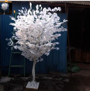 М 1,8 м высокий свадебный этап белый моделирование гинкго дерево магазины открытие украшенное дерево