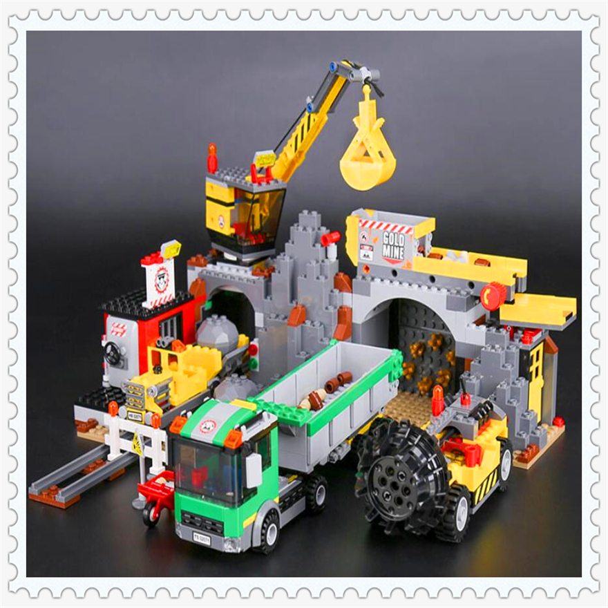 838Pcs City Mine Engineer Crane Truck Model Building Block Toys LEPIN 02071 Figure Gift For Children Compatible Legoe 4204 lepin 22001 pirate ship imperial warships model building block briks toys gift 1717pcs compatible legoed 10210