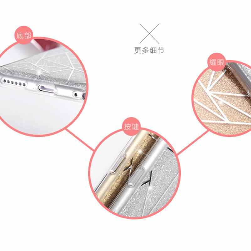 فاشون بريق ل Fundas iphone 6s 6 7 8 زائد 5SE 5 S 5 S X XS حالة الفاخرة بلينغ جرلي 3D الغلاف الخلفي ل iphone xs ماكس