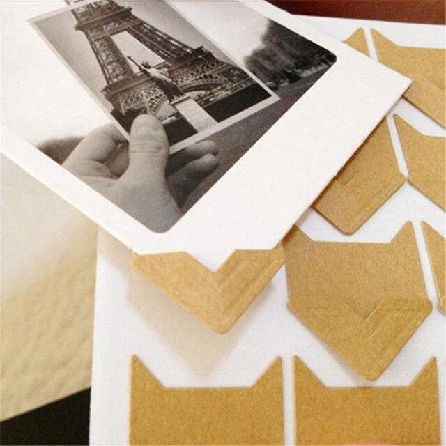 24 pcs/גיליון DIY בציר פינת קראפט נייר מדבקות לאלבומי תמונות מסגרת קישוט רעיונות
