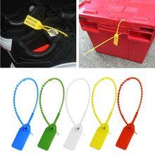100 шт одноразовые пластиковые Pull-Tite защитные уплотнения вывески пронумерованные самоблоки