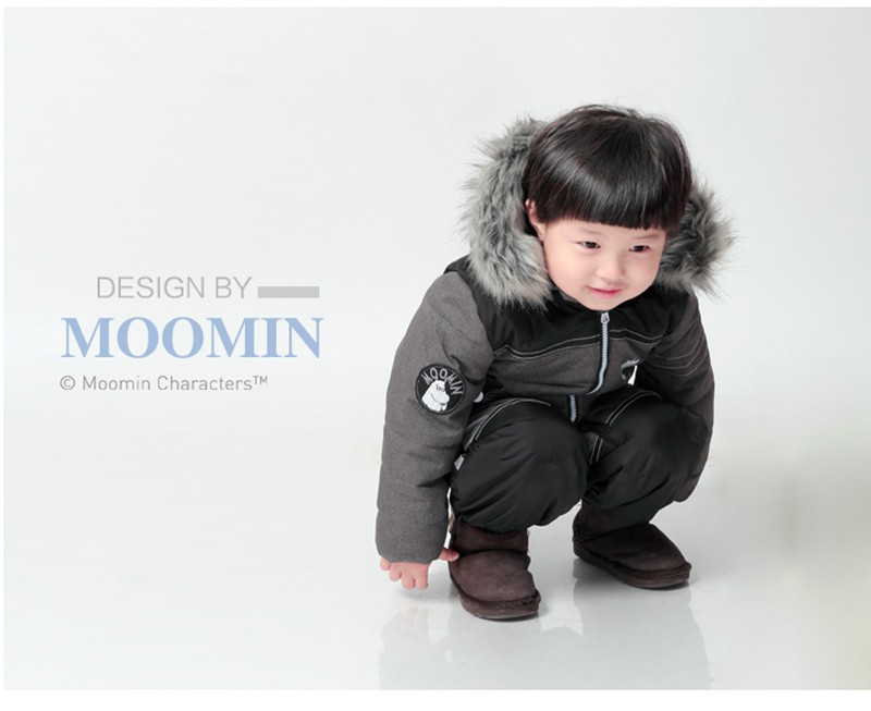baby boy Winter clothes Moomin 2015 New arrival Gray Boys Winter ... fc9fea0d5
