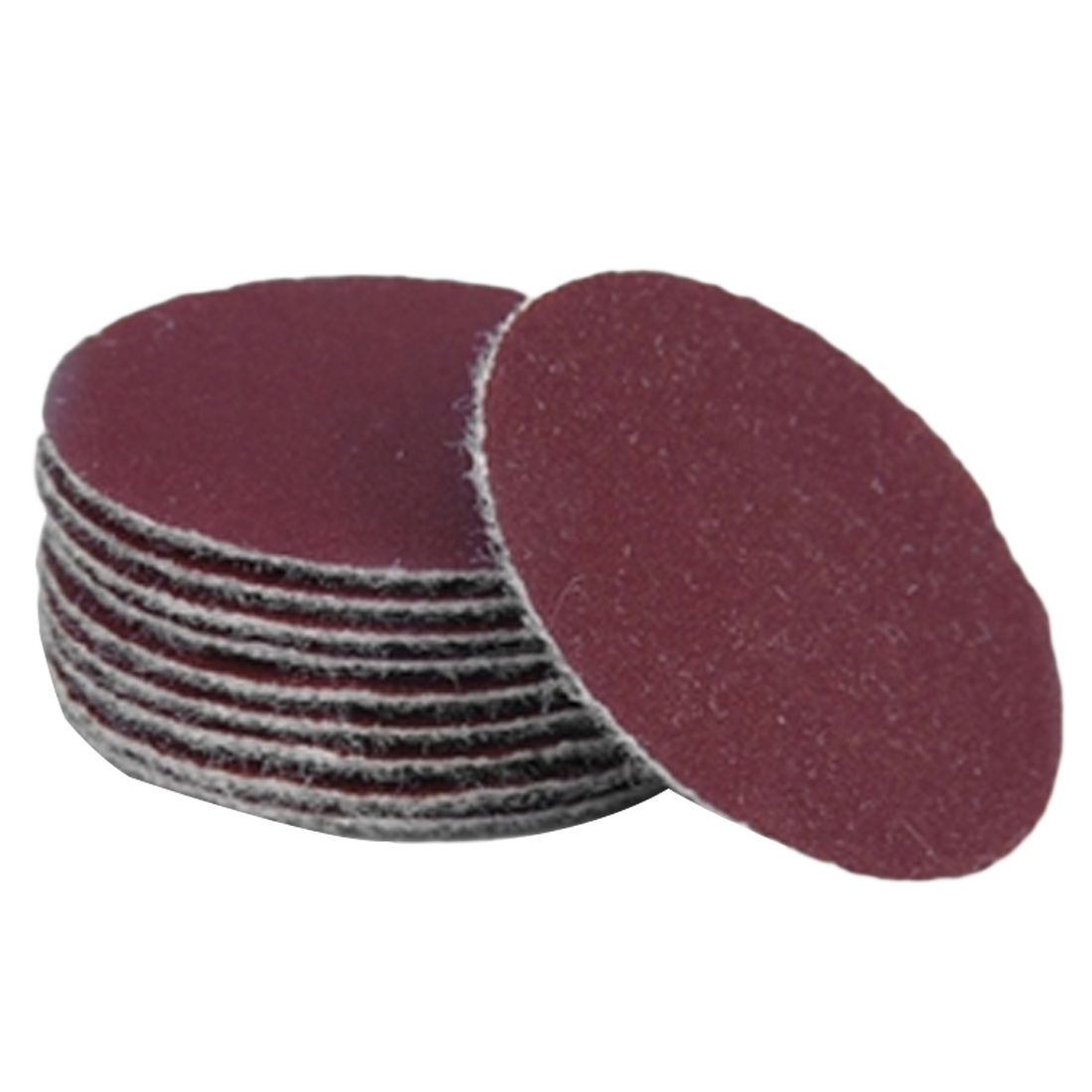 Image 4 - Abrasive polishing grinding nozzles 50pcs 2 inch red circular  sandpaper 60/80/120/150/180+1pc Hook Loop Plate fit Dremel-in Abrasive Tools from Tools
