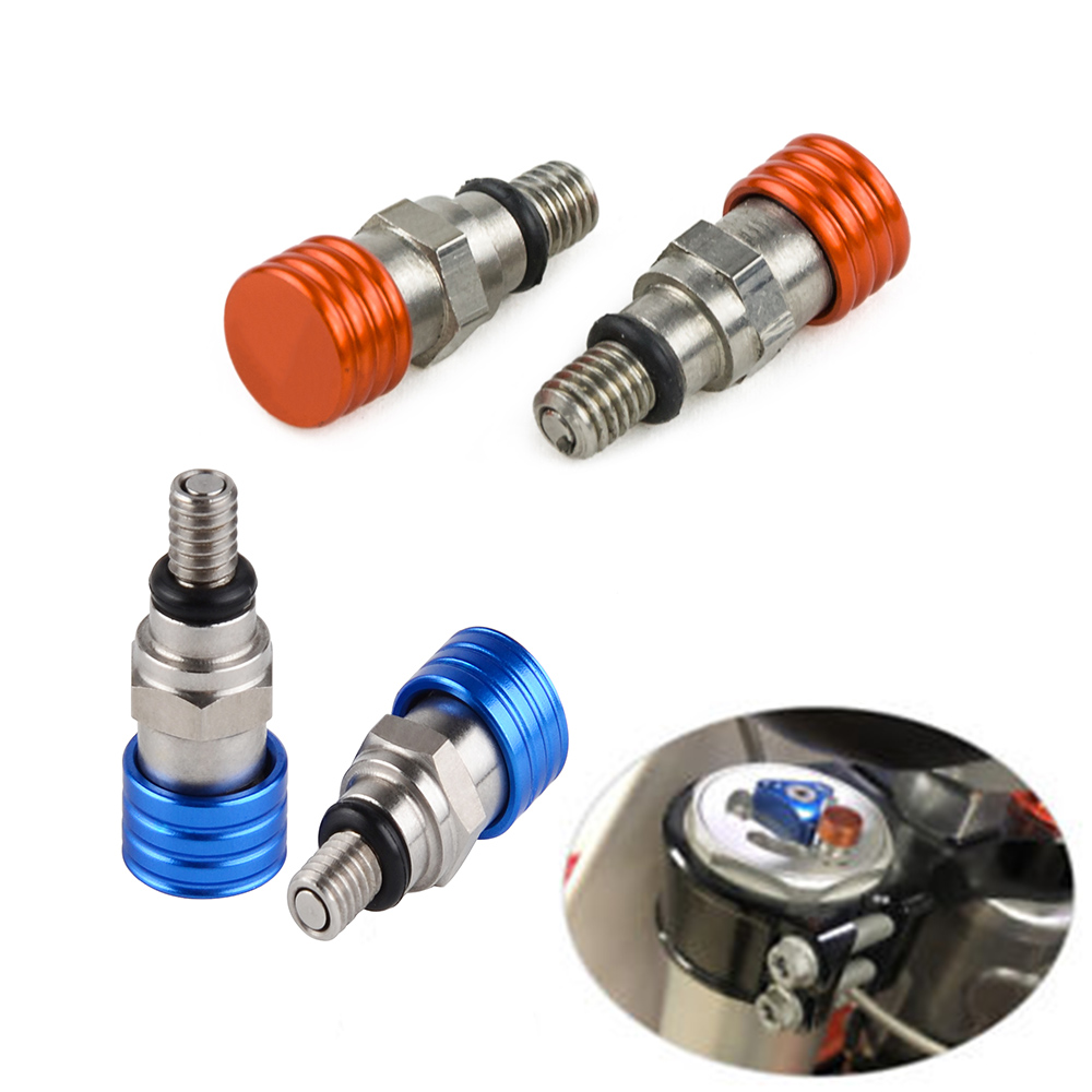 Fork Air Bleeder Valves For KTM <font><b>250</b></font> 350 400 450 500 525 530 EXC SX SXF XC XCW MXC 690 950 990 SMC Supermoto <font><b>Enduro</b></font> Adventure image