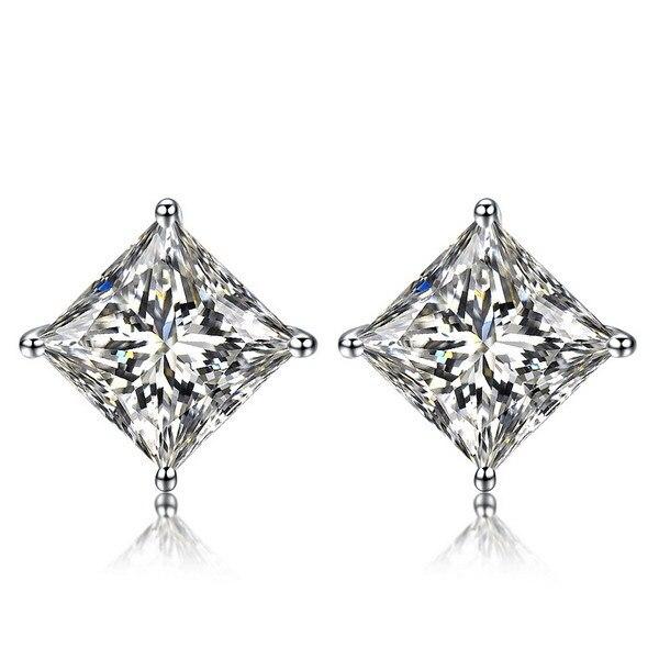 Zocai Princess Natural 0 6 Ct Certified H Vvs Diamond Earrings Jewelry Earring Ear Studs
