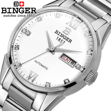 Binger Luxury Brand Watches Men Automatic Full steel Wristwatch Military Watch Waterproof Male Business Clock Relogio Masculino hollow brand luxury binger wristwatch gold stainless steel casual personality trend automatic watch men orologi hot sale watches
