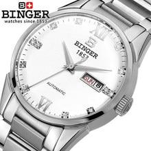 Binger Luxury Brand Watches Men Automatic Full steel Wristwatch Military Watch Waterproof Male Business Clock Relogio Masculino