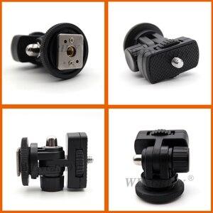 "Image 2 - WINGRIDY Profession 1/4"" Screw Hot Shoe Mount Adapter Adjustable Angle Pole For DSLR Camera Canon Nikon Flash LED Light Monitor"