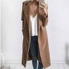 Fashion Trench Coat For Women Long Winter Coat Women Plus Size Clothes 2019 sobr