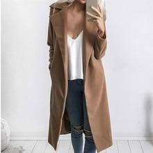 Fashion Trench Coat For Women Long Winter Coat
