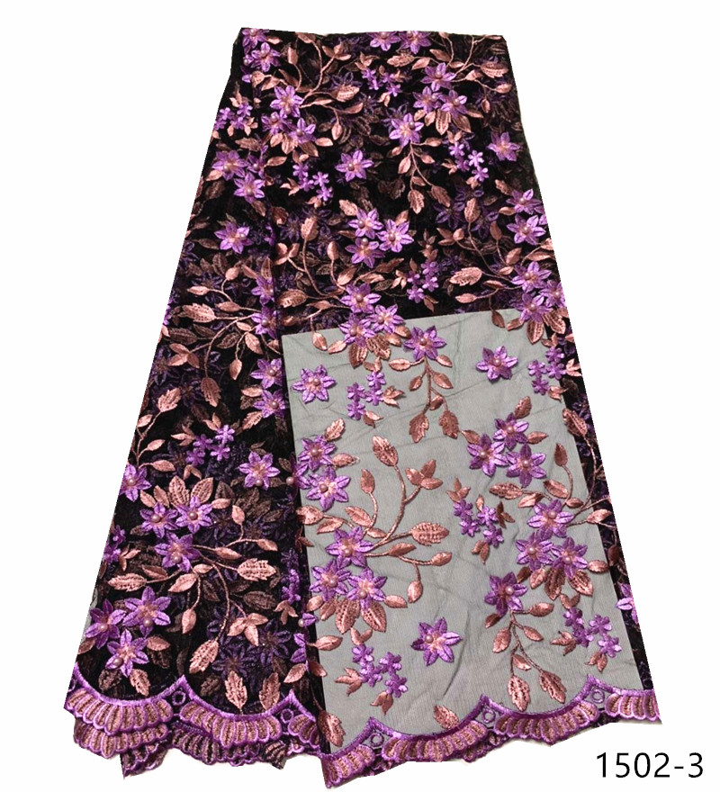 French Lace Fabric For Wedding High Quality Nigerian Lace Fabrics African Tulle Lace Materials Apparel Sewing Fabric 1502 in Lace from Home Garden