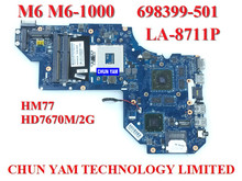 Wholesale laptop motherboard 698399-501 for HP EnvyM6 HM77 7670M/2G 698399-001 LA-8711P Notebook PC mainboard 90 Days Warranty