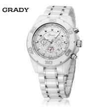 Грейди высокое качество керамической мужские часы гарантия качества наручные часы большие керамические мужчины кварцевые часы relogio masculino