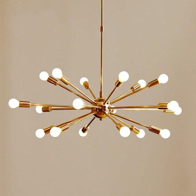 Mitte Des Jahrhunderts Messing Sputnik Kronleuchter 18 Arme Moderne  Anhänger Lampe Hängen Licht Für Wohnzimmer Home
