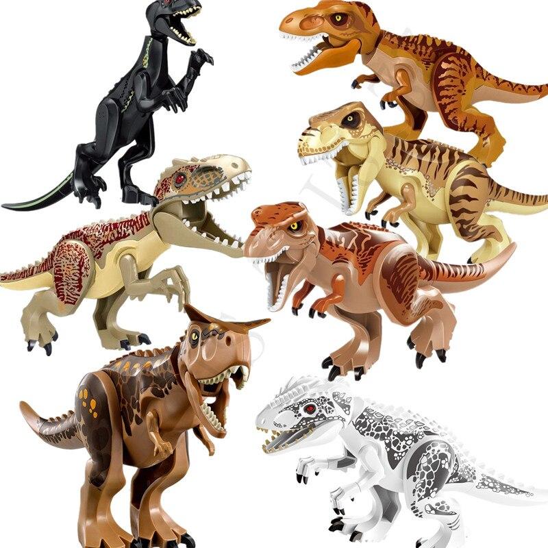 Groß Indominus Rex Jurassic World Dinosaurier Figur Blöcke Raptor Spielsachen Baukästen & Konstruktion