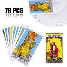 78 шт Новый Полный английский Rider Вайт-Таро палубная карта начинающих доска с подарками игры развлечения игральных карт Бумага