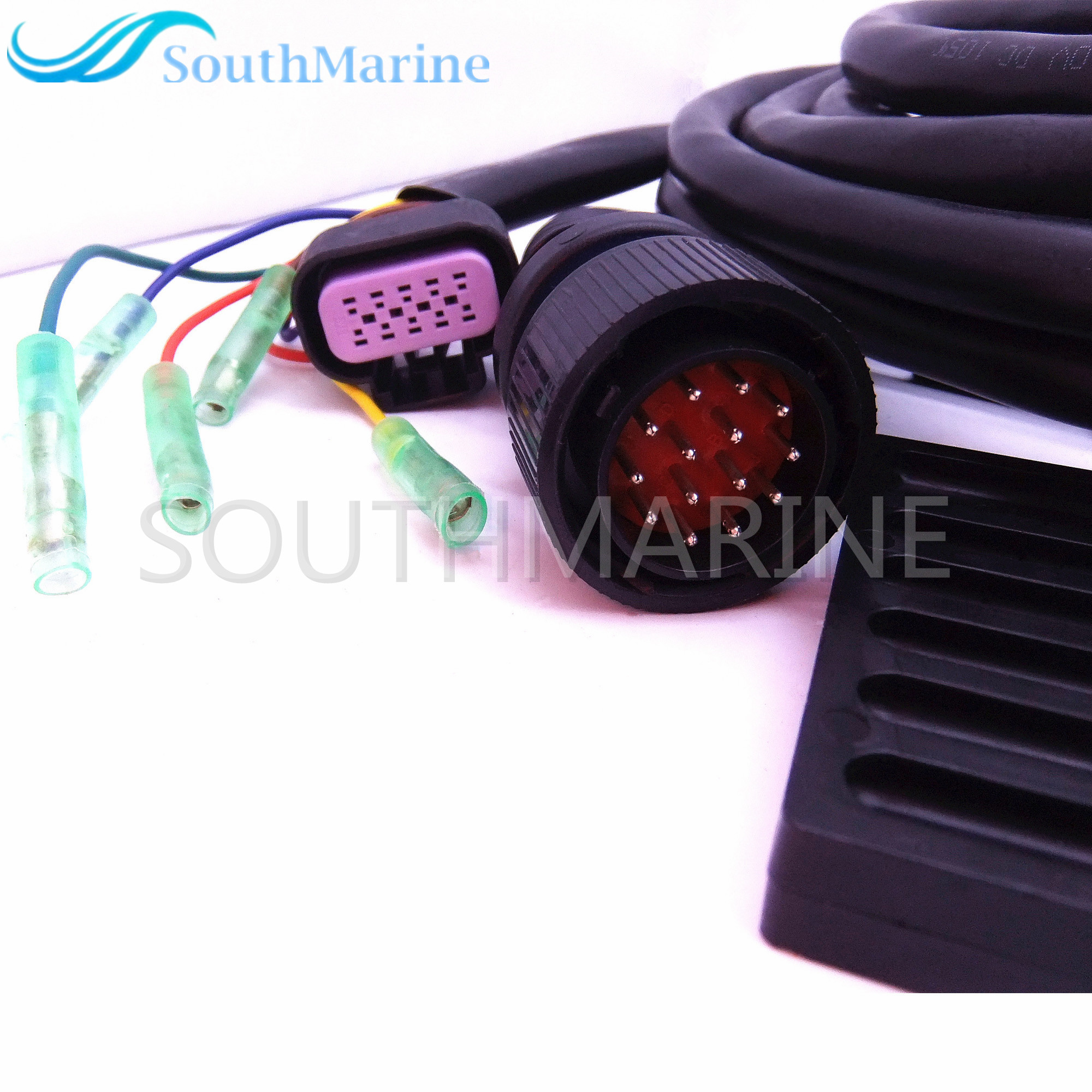 881170a13 boat motor side mount remote control box with 14 pin for 14 pin mercury control box wiring [ 2000 x 2000 Pixel ]