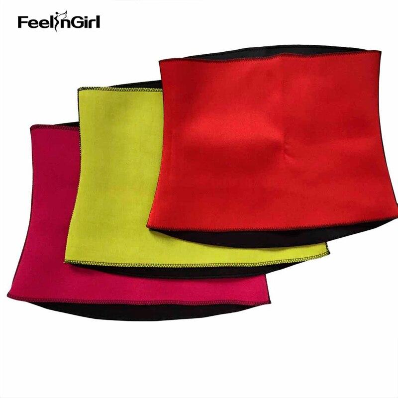 FeelinGirl Thermo neopreno Body Shaper Cinta Modeladora adelgazamiento cintura entrenador Cincher pérdida de peso Shapewear corsé F