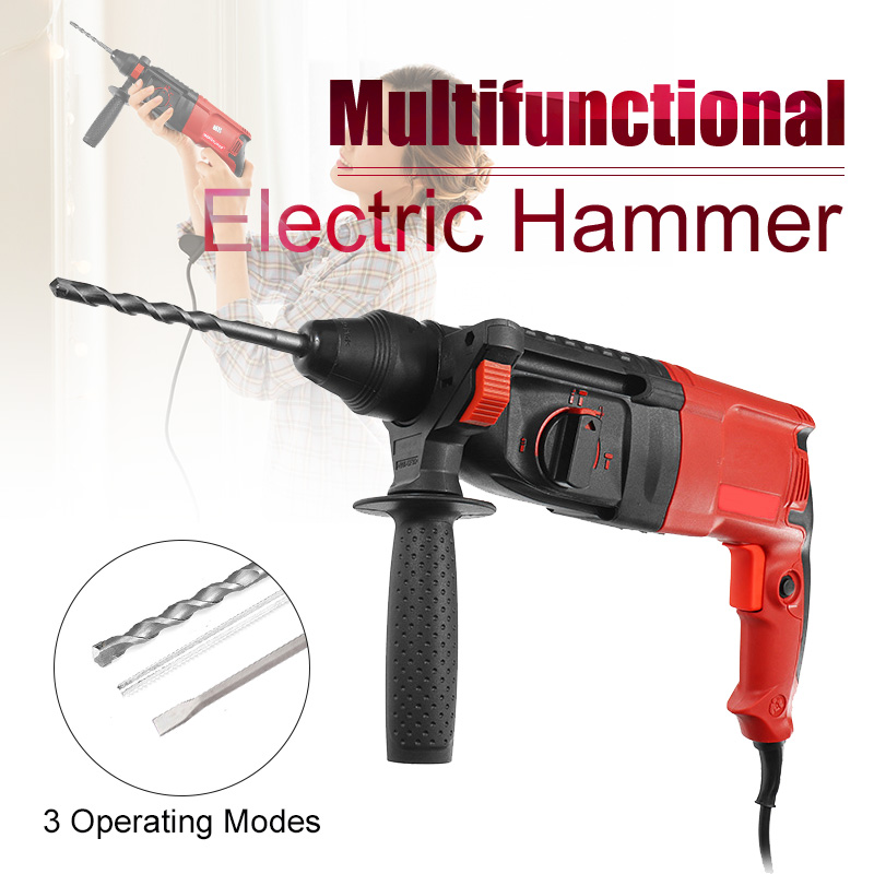 780W 220V 28mm 50Hz Impact Drill Electric Hammer Drill Breaker 3 Operating Modes Power Drill Woodworking Power Tool цена