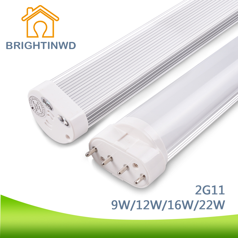 BRIGHTINWD LED Tube Linestra 2G11 Dimmable Lamp SMD2835 LED Chip PL Bar 9W-22W 110V 220V Led Integrated Tube Energy Saving Lamp 9w 10w smd led pl tube pl energy savin lamp 850lm ac100 240v clear