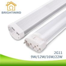 LED Tube Linestra 2G11 Dimmable Lamp SMD2835 LED PL Bar 9W-22W 110V 220V Led Integrated Tube Energy Saving Lamp
