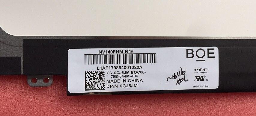 IPS Screen NV140FHM N46 for Dell PN 0CJ5JM CJ5JM Matrix for Laptop 14 0 30Pin NT140FHM