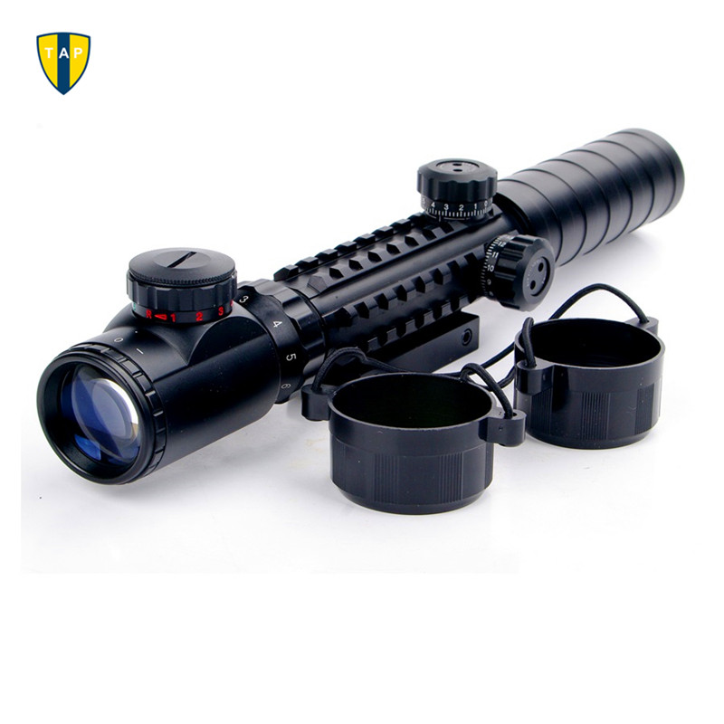 Tactical Airsoft 3 9x32EG Riflescope Red Green Illuminated font b Rangefinder b font Reticle Shotgun Air