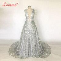 New Unique Fabric Sexy V-neck Bling Dress Evening Party Long Prom Evening Dresses Glitter Vestidos De Festa