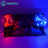 Double Dragon Ball Led Color Night Light Z Son Goku Strength Bombs Novelty Lighting Luminaria Xmas Holiday Kid Toy Gift Led Lamp