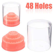 1 Set 48 Holes Nail Drill Bits Holder Stand Display Nail Drill Bit Box Organizer Container Manicure Tool(China)