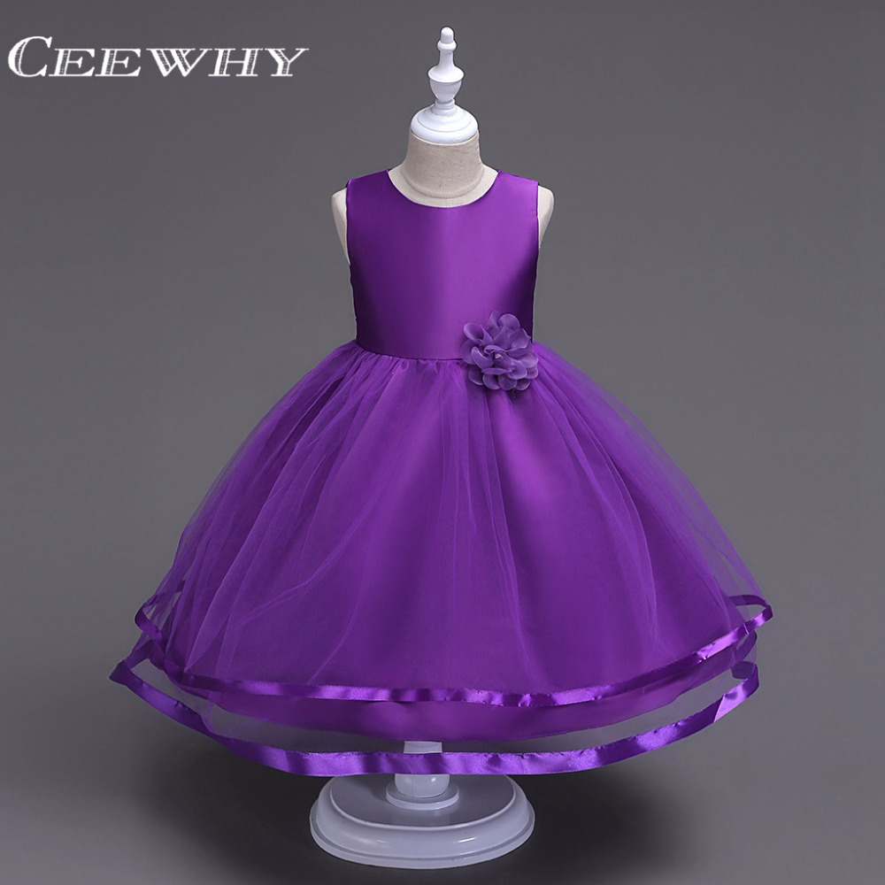CEEWHY   Flower     Girl     Dresses   Real Photo Ball Gown O-Neck Tulle with Bow   Girls   Prom Pageant Gown First Communion   Dress   for   Girls