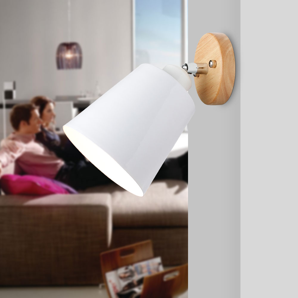 LED Wall Light Modern Nordic Simple Wall Lamps Beside Lights for Bedroom Living Room Wood Aluminum Wall Lamp Home Decoration E27 led wall lamp indoor lighting aluminum wall sconces creative modern wall lights beside lamp lights for bedroom reading room e27