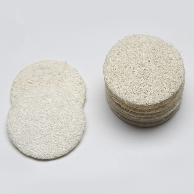 Natural Loofah Sponge 10pcs Bath Rub Exfoliate Glove Oval Towel Body Shower Scrubber Pad D5