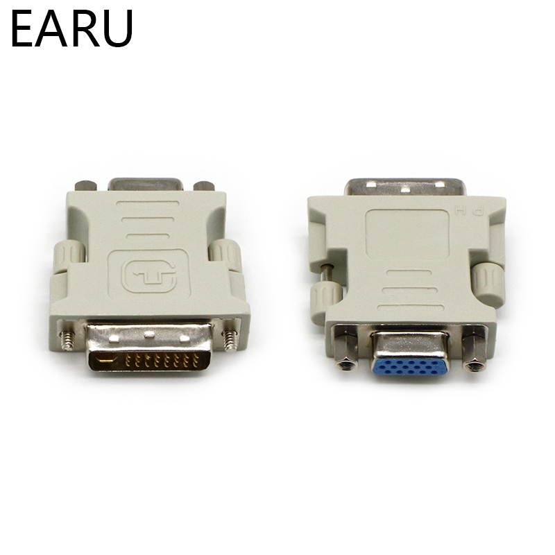 DVI-I 24+5 Pin DVI To VGA Male To Female Video Converter Adapter For PC Laptop For Graphics Cards Computer 1080P HDTV Monitor
