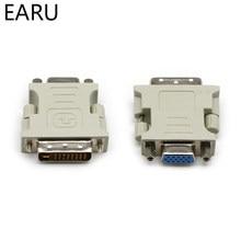 DVI-I 24 + 5 pinos dvi para vga, macho para fêmea, conversor de vídeo, adaptador para pc, laptop, para placas gráficas monitor 1080p hdtv do computador