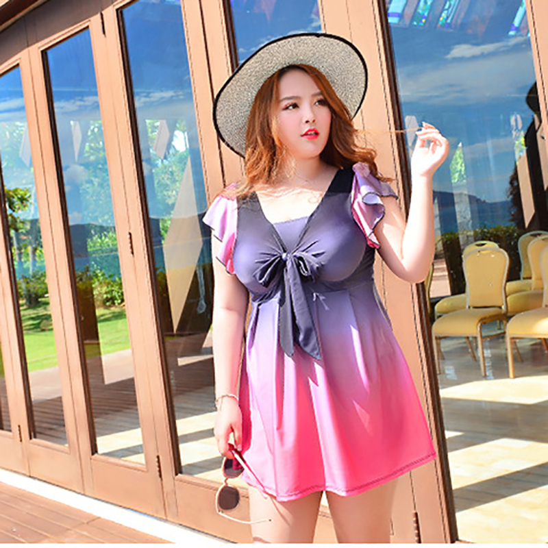 Sunny eva Swimwear large sizes swimming dress for woman swimsuit one piece womens swimwear female combined with push up beach