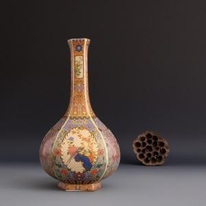 Image 2 - Jingdezhen الحرف اليدوية العتيقة سلالة تشينغ yongzheng المينا زهرية زهرية السنوية العتيقة جمع الحلي
