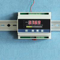 4 20mA DC input din type water liquid level pressure controller with 4 ways relay and DC24V voltage output liquid level meter